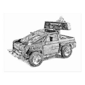 Carte Postale Rétro véhicule du jouet 4x4/Assault