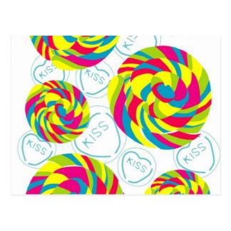Carte Postale rétros bonbons