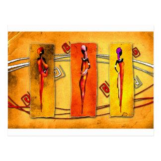 Carte Postale Rétros cadeaux vintages 01 de style de l'Afrique