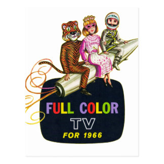 Carte Postale Rétros enfants vintages de la télévision TV de