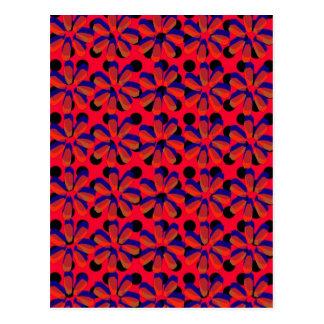 Carte Postale Rétros fleurs 3D