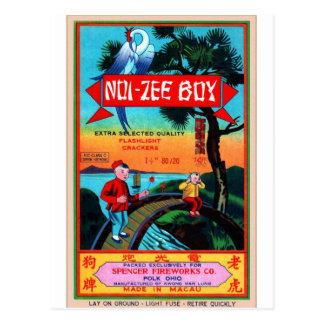 Carte Postale Rétros garçons vintages du pétard NOI-Zee de
