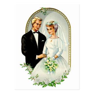 Carte Postale Rétros ménages mariés vintages du mariage 60s