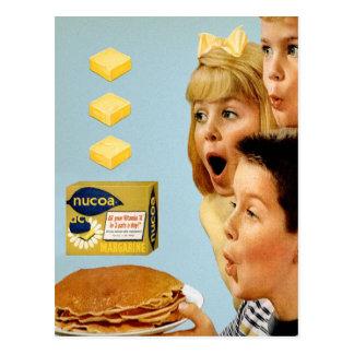 Carte Postale Rétros tapotements vintages de la margarine 3 de