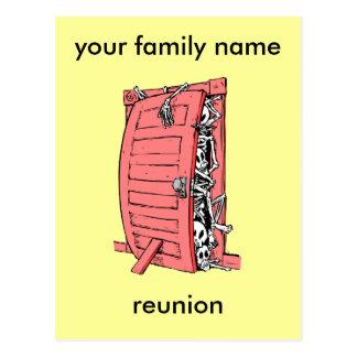 Carte Postale réunion de famille drôle