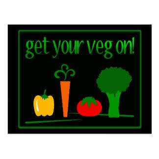 Carte Postale Réussissez votre Veg ! Avec le légume assorti