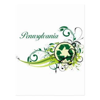 Carte Postale Réutilisez la Pennsylvanie