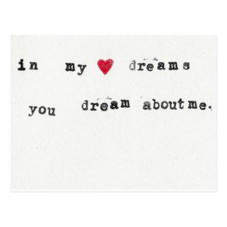Carte Postale rêve au sujet de moi