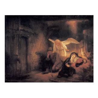 Carte Postale Rêve de Rembrandt Joseph dans l'écurie à Bethlehem