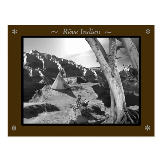 carte postale Rêve Indien