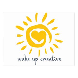 Carte Postale Réveillez créatif