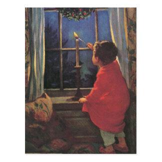 Carte Postale Réveillon de Noël vintage par Jessie Willcox Smith