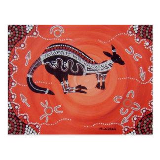 Carte Postale Rêver de kangourou