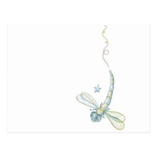 Carte Postale Rêver la libellule