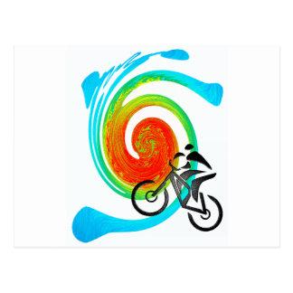 Carte Postale rêves de l'Utah de vélo