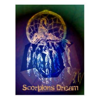 Carte postale rêveuse de scorpions