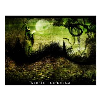 Carte postale rêveuse serpentine