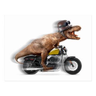 Carte Postale Rex de moto-tyrannosaurus-t de rex de T -
