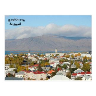 Carte Postale Reykjavík, Islande
