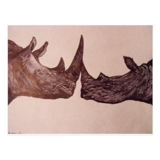 Carte Postale Rhinocéros