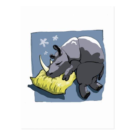 Carte Postale rhinoceros