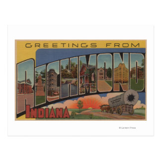 Carte Postale Richmond, Indiana - grandes scènes de lettre