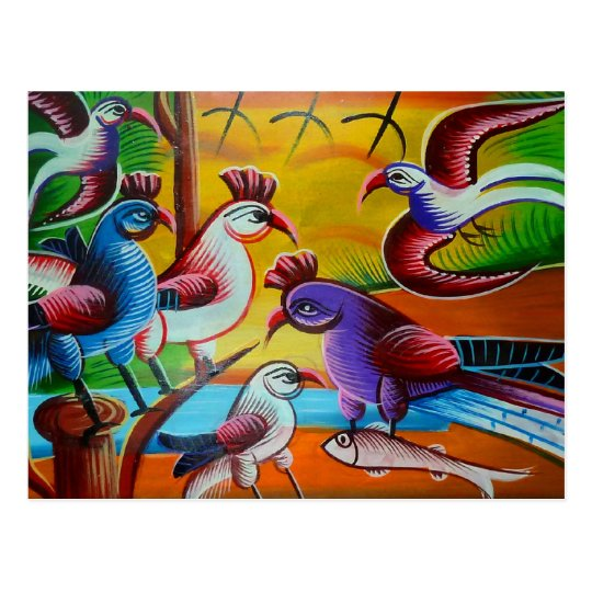 Carte Postale RickshawArt bird postcard