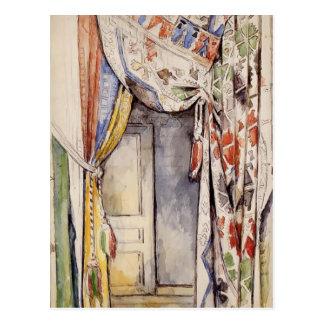 Carte Postale Rideaux en Paul Cezanne-