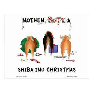 Carte Postale Rien n'aboutent Noël de Shiba Inu