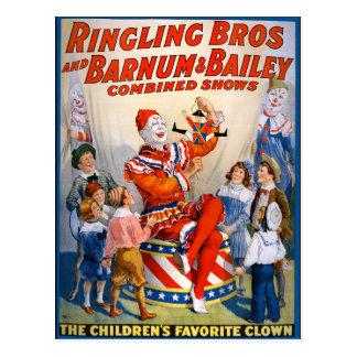 Carte Postale Ringling vintage Bros - Barnum et exposition de