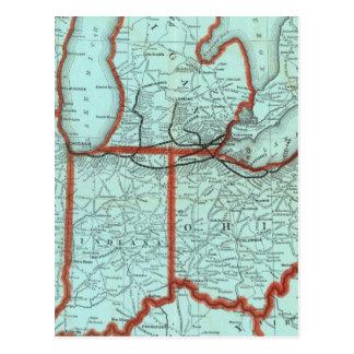 Carte Postale Rivage de lac et chemin de fer du sud du Michigan