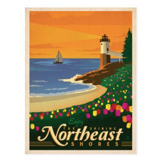 Carte Postale Rivages du nord-est | Etats-Unis