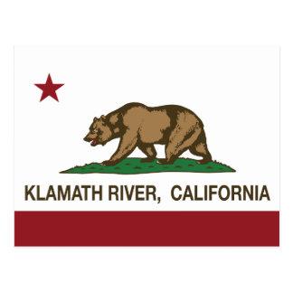 Carte Postale Rivière de Klamath de drapeau de République de la
