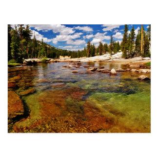 Carte Postale Rivière de Tuolumne, Yosemite.