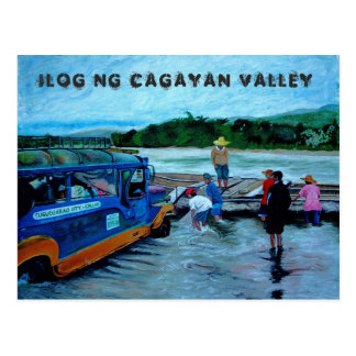Carte Postale Rivière de vallée de Cagayan, Philippines