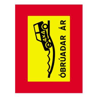 Carte Postale Rivière d'Unbridged, poteau de signalisation,
