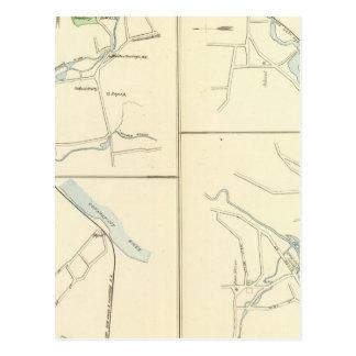 Carte Postale Rivière profonde, Ivoryton, ruisseau de centre,