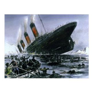 Carte Postale RMS de descente Titanic