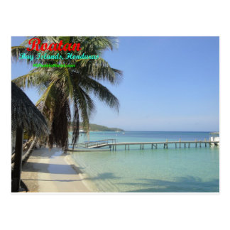 Carte Postale Roatan, îles de baie, Honduras