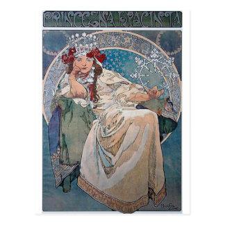 Carte Postale Robe bleue de dame de hyacinta de princesse de