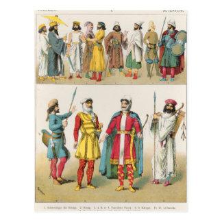 """Carte Postale Robe persane, de """"der Voelker de Trachten"""", 1864"""