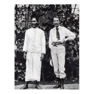 Carte Postale Robert Louis Stevenson et son ami