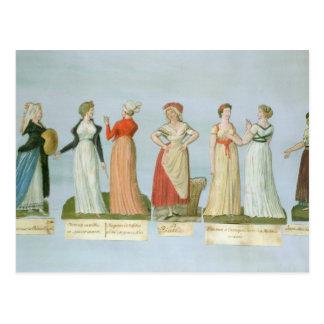 Carte Postale Robes et costumes dans la mode