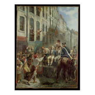 Carte Postale Robespierre et Saint-Juste