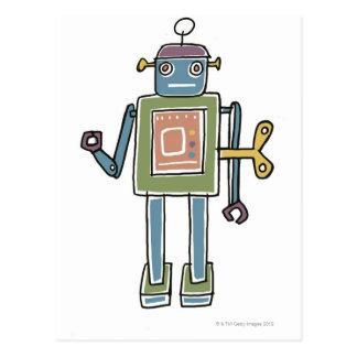 Carte Postale Robot de rouages