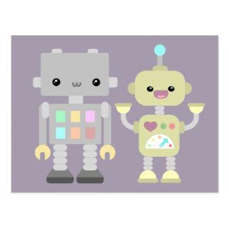 Carte Postale Robots au jeu