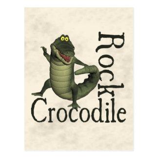 Carte Postale Roche de crocodile