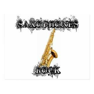 Carte Postale Roche de saxophones
