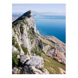 Carte Postale Roche du Gibraltar et mer Méditerranée