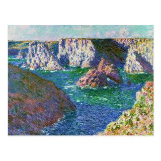 Carte Postale Roches au Belle-Ile Claude Monet